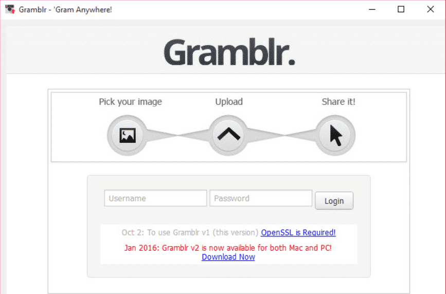 Gramblr Instagram for PC
