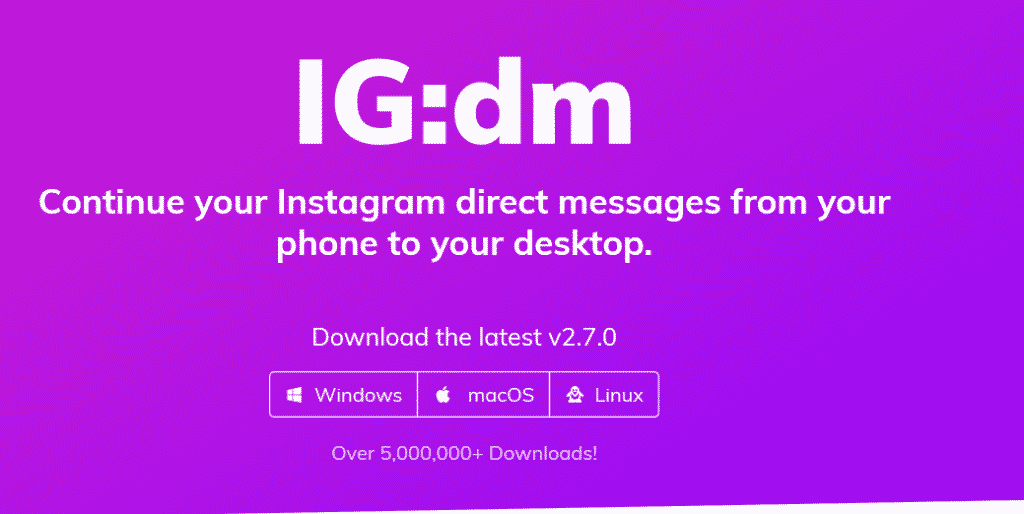 4. IG:DM Instagram Direct Messages on Desktop Instagram for PC
